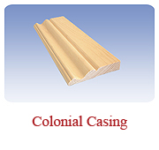 <h1>Colonial Casing</h1> 			A great window and door trim that will finish a room beautifully and make it feel like home.<br /> 			        <table summary=&quot; &quot; class=&quot;datatable&quot;>         <caption></caption>         <tr>            <th scope=&quot;col&quot;>Board Size</th>           <th scope=&quot;col&quot;>Actual Coverage</th>           <th scope=&quot;col&quot;>Available Grades</th>         </tr>         <tr>                     <td class=&quot;middle&quot;>1 X 3</td>           <td class=&quot;middle&quot;>3/4&quot; X 2 1/2&quot;</td>           <td class=&quot;middle&quot;>Select, Premium, Cottage</td>         </tr> 		<tr>                     <td class=&quot;middle&quot;>1 X 4</td>           <td class=&quot;middle&quot;>3/4&quot; X 3 1/2&quot;</td>           <td class=&quot;middle&quot;>Select, Premium, Cottage</td>         </tr>               </table>